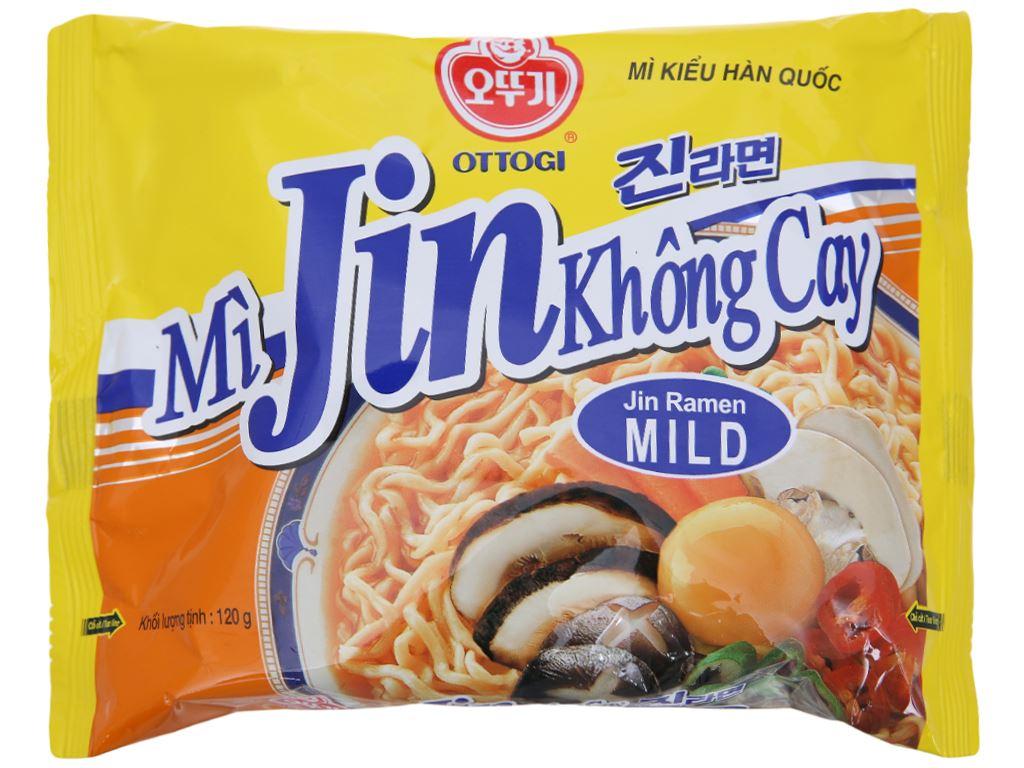 Mì Jin Ramen không cay Ottogi gói 120g 1