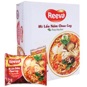 Thùng 30 gói Mì Reeva lẩu nấm chua cay 85g