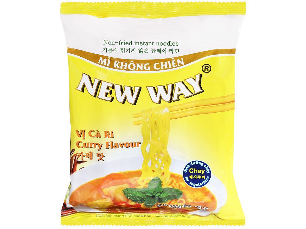 Thùng 30 gói mì không chiên New Way vị cà ri 85g 7