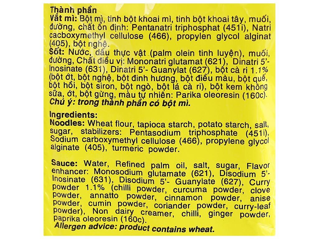 Thùng 30 gói mì không chiên New Way vị cà ri 85g 10