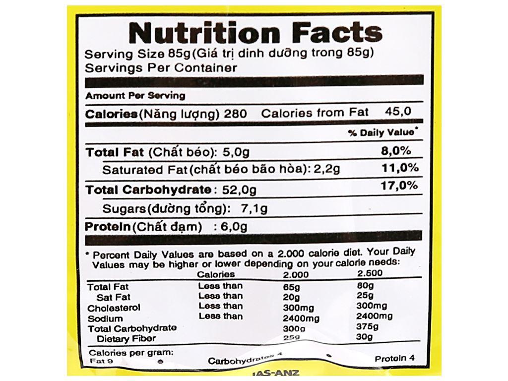 Thùng 30 gói mì không chiên New Way vị cà ri 85g 11