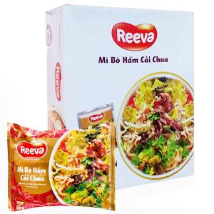 Thùng 30 gói Reeva bò hầm cải chua 85g