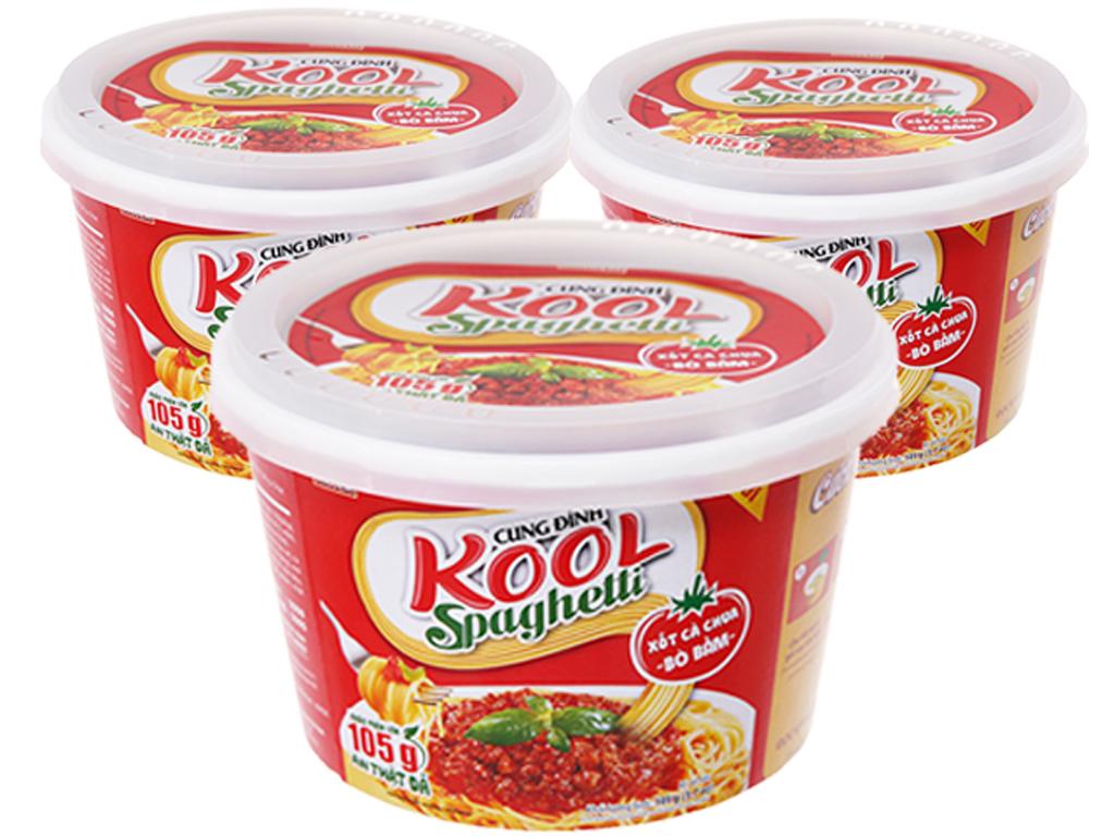 Mì khoai tây Cung Đình Kool xốt Spaghetti thịt bò bằm 105g 1