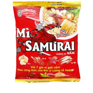 Mì không chiên Samưrai hương vị nấm gói 79g