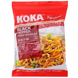 Mì xào khô KOKA hạt tiêu gói 85g