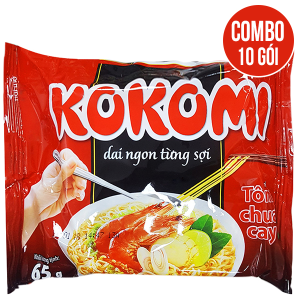 Combo 10 gói Mì Kokomi tôm chua cay 65g
