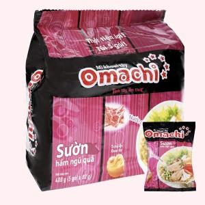 Lốc 5 gói mì khoai tây Omachi sườn hầm ngũ quả 80g