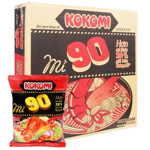 Thùng 30 gói mì Kokomi 90 tôm chua cay 90g