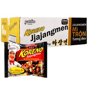 Thùng 24 gói mì trộn tương đen Koreno Jjajangmen 115g