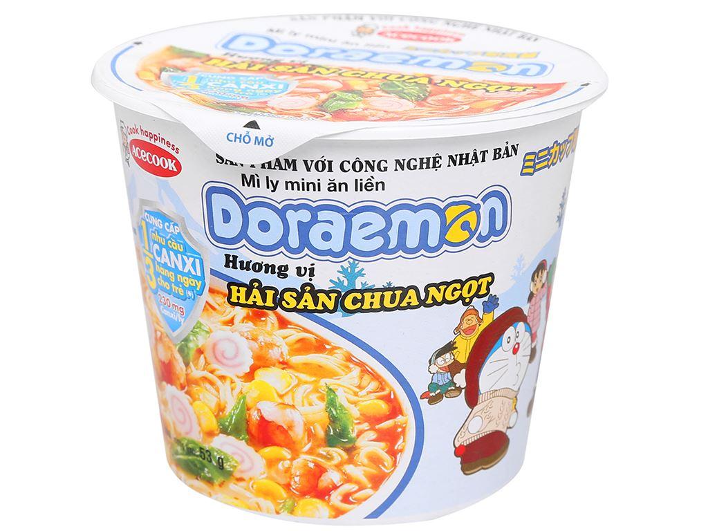Mì ly mini Doraemon hải sản chua ngọt 53g 1