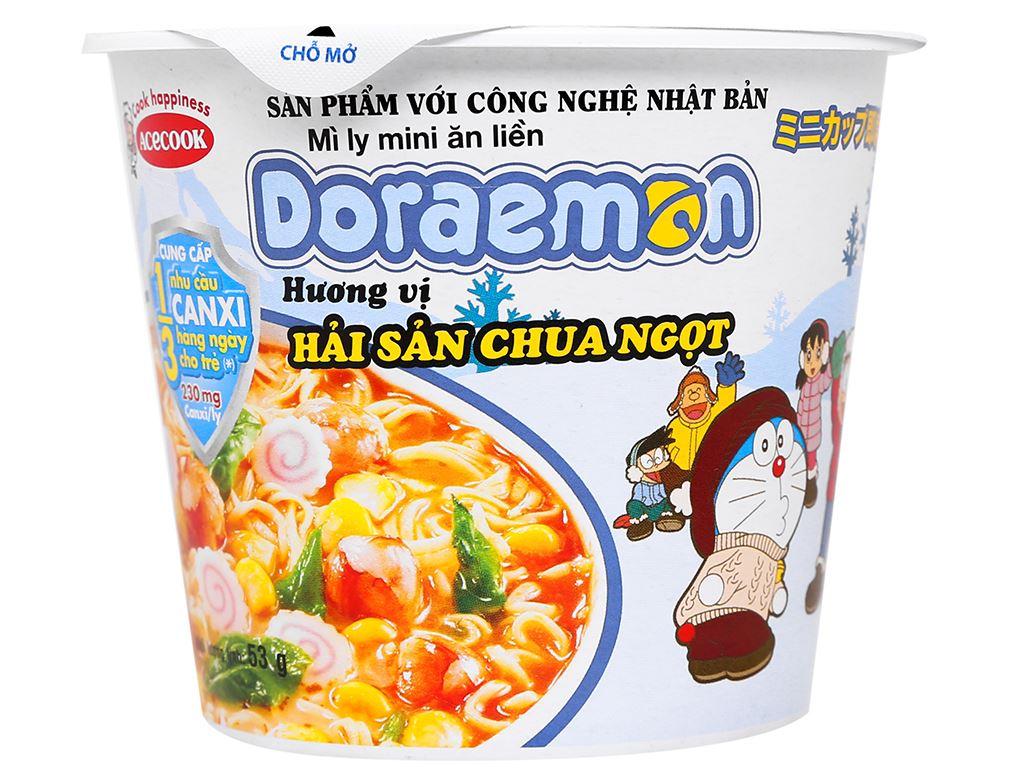 Mì ly mini Doraemon hải sản chua ngọt 53g 2