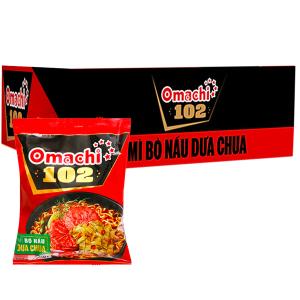 Thùng 30 gói mì bò nấu dưa chua Omachi 102 120g