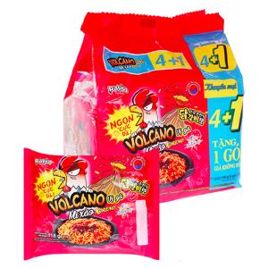 Lốc 5 gói mì xào Koreno Volcano vị gà 118g