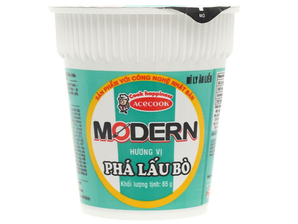 Mì Modern phá lấu bò ly 65g 2
