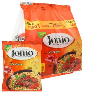 Lốc 6 gói mì Jomo vị xốt bò hầm 78g