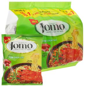 Lốc 6 gói mì Jomo vị tôm chua cay 80g
