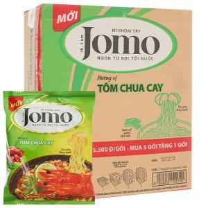 Thùng 6 lốc mì Jomo vị tôm chua cay 80g