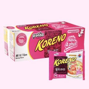 Thùng 24 gói mì Koreno hương vị tôm 100g