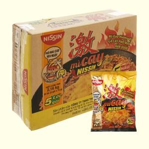 Thùng 30 gói mì cay Nissin vị gà cay phô mai Hàn Quốc 72g