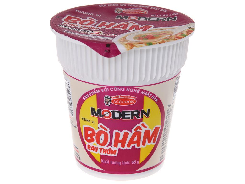 Mì Modern bò hầm rau thơm ly 65g 2