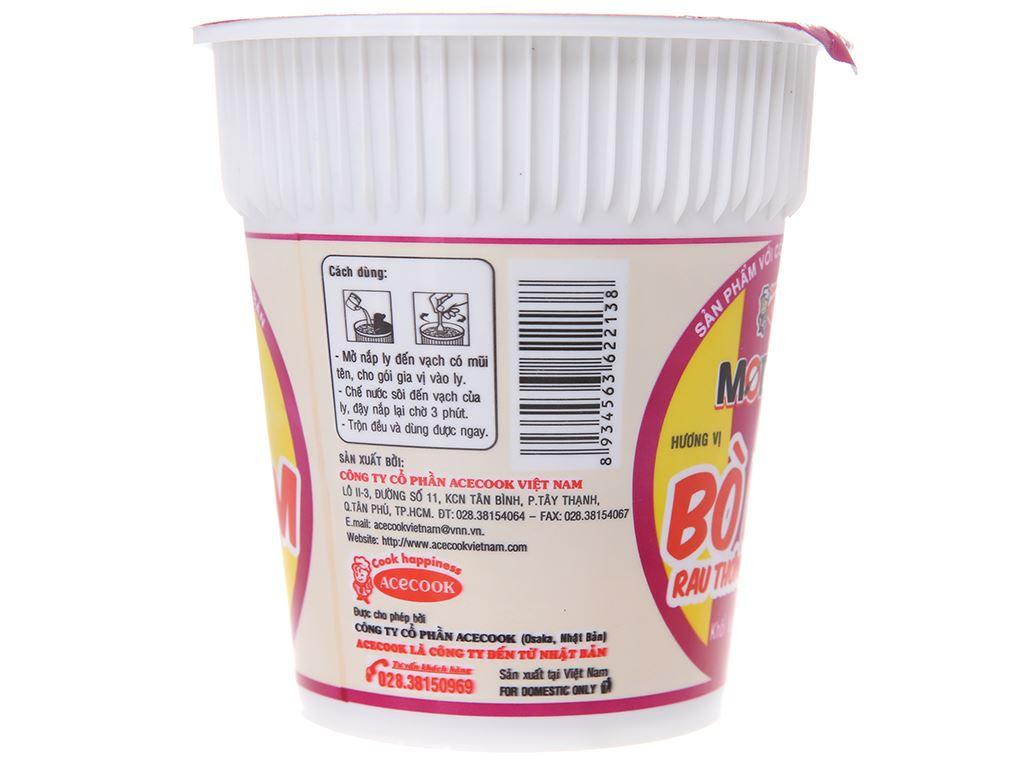 Mì Modern bò hầm rau thơm ly 65g 4