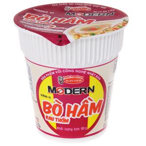 Mì Modern bò hầm rau thơm ly 65g