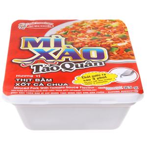Mì xào Táo Quân hương vị thịt bằm xốt cà chua khay 85g