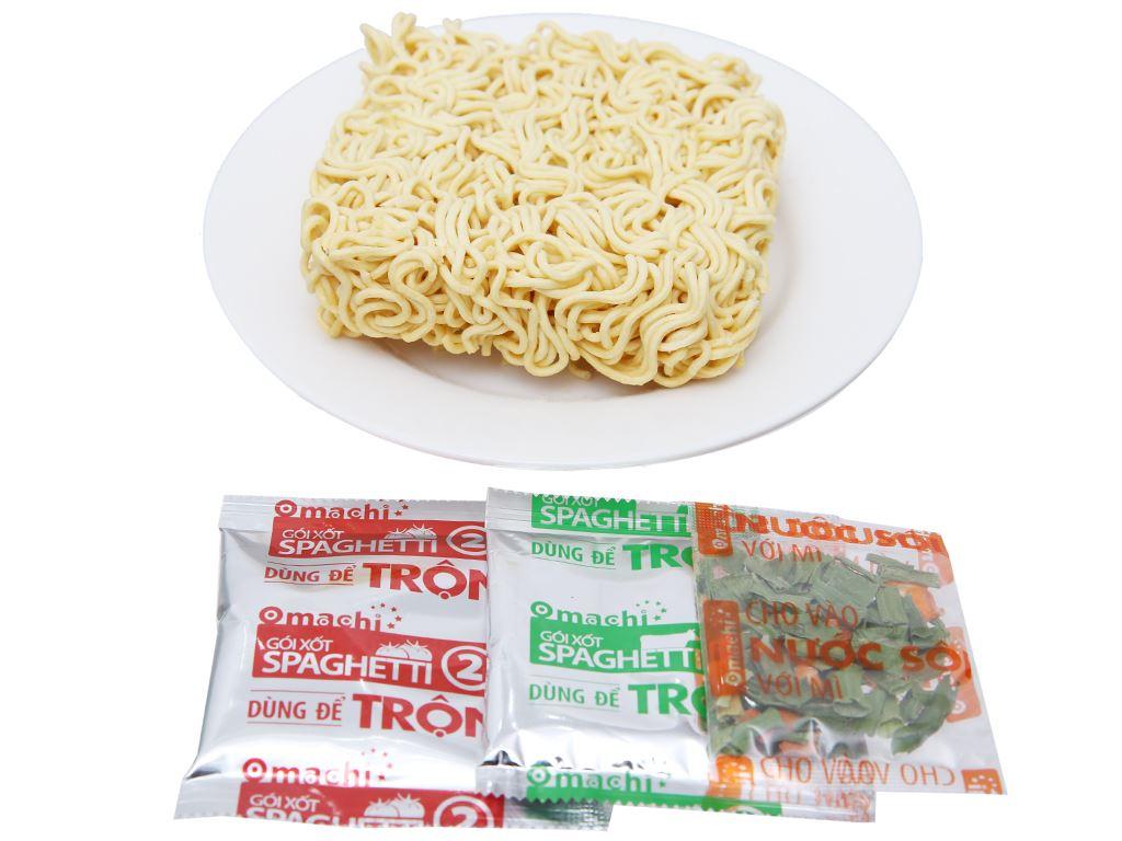 Mì trộn khoai tây Omachi xốt Spaghetti gói 91g 3