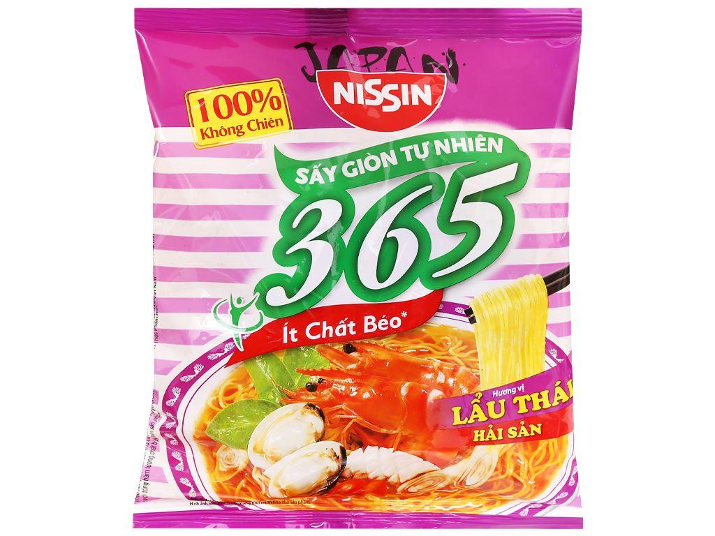 Mì không chiên Nissin 365 lẩu Thái hải sản gói 68g 5