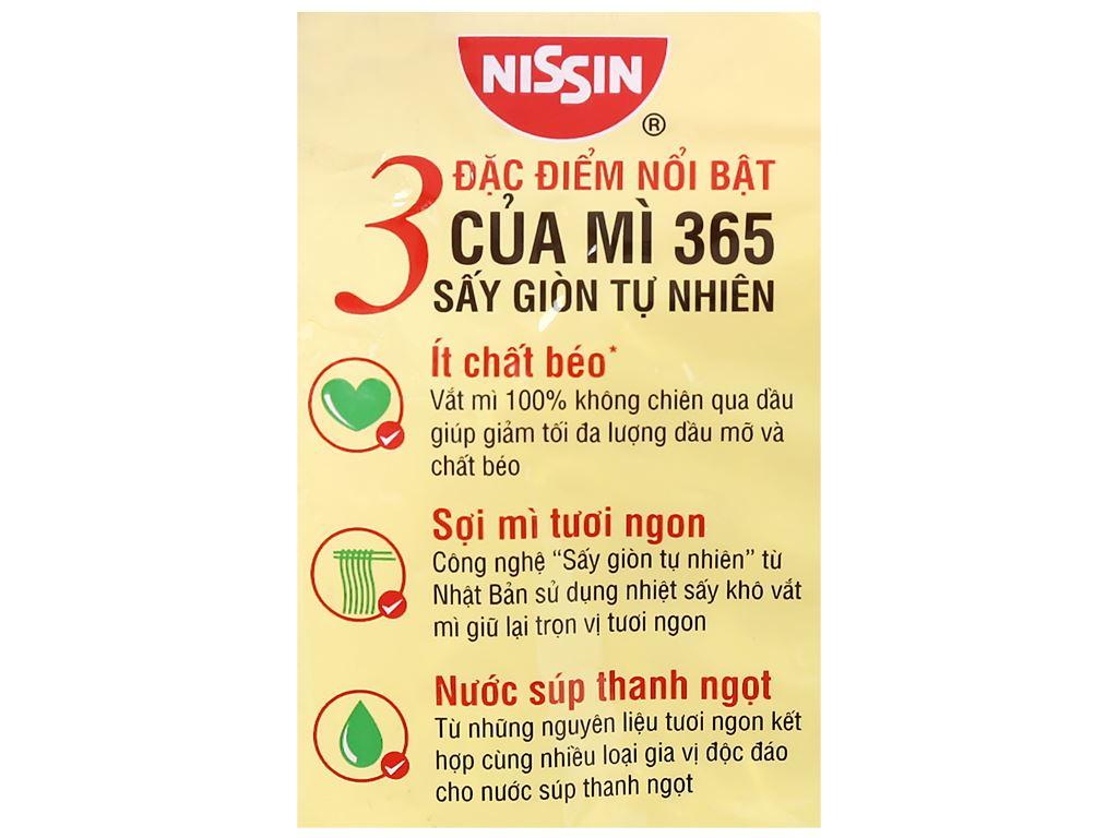 Mì không chiên Nissin 365 lẩu Thái hải sản gói 68g 7