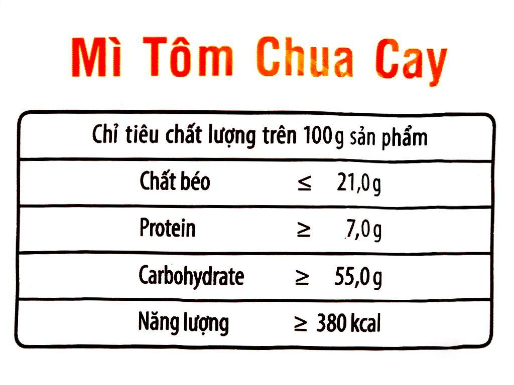 Mì 3 Miền tôm chua cay gói 65g 8