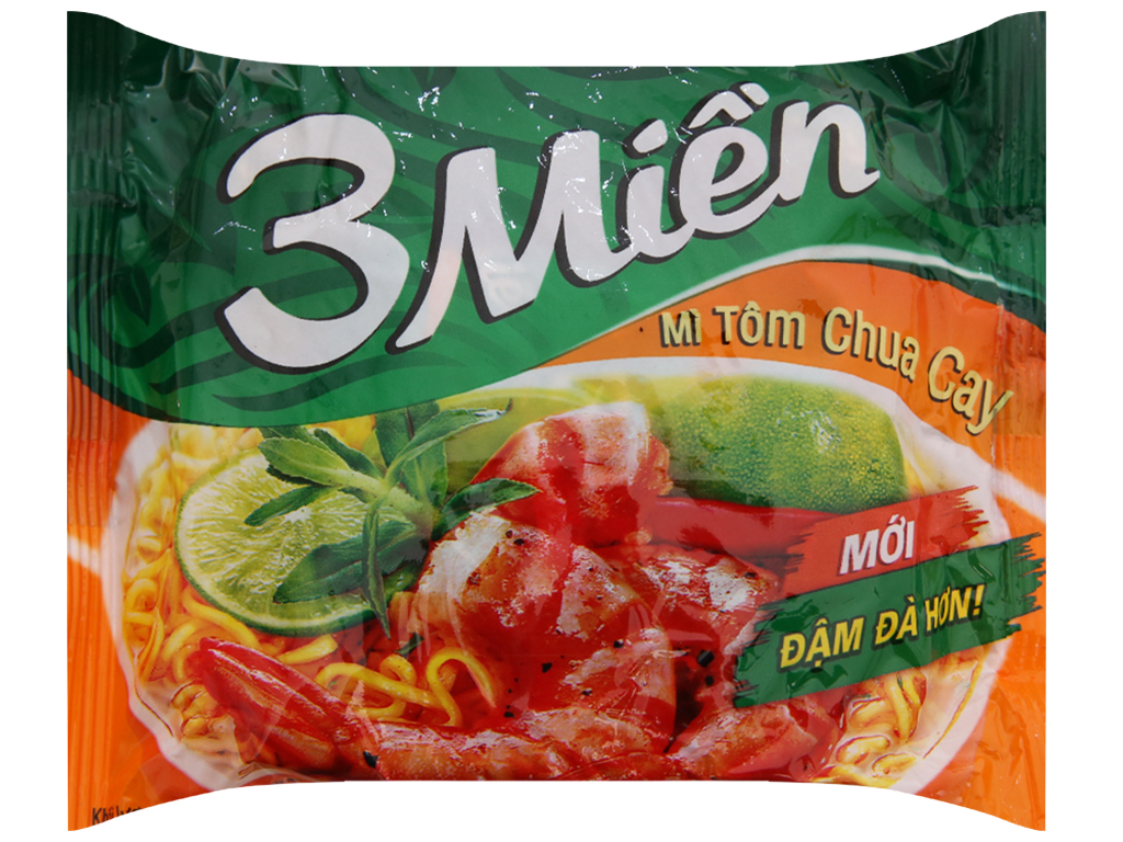 Mì 3 Miền tôm chua cay gói 65g 2