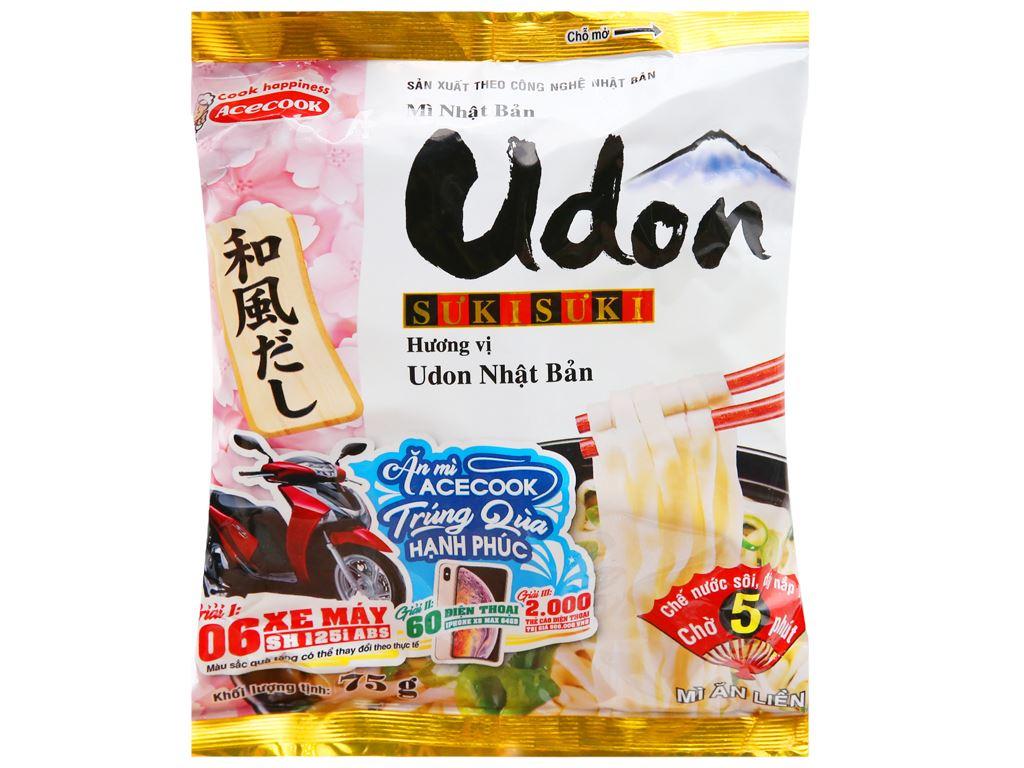 Mì Udon Sưkisưki vị Udon Nhật Bản gói 75g 10