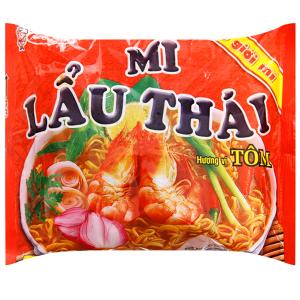 Mì Lẩu Thái hương vị tôm gói 80g