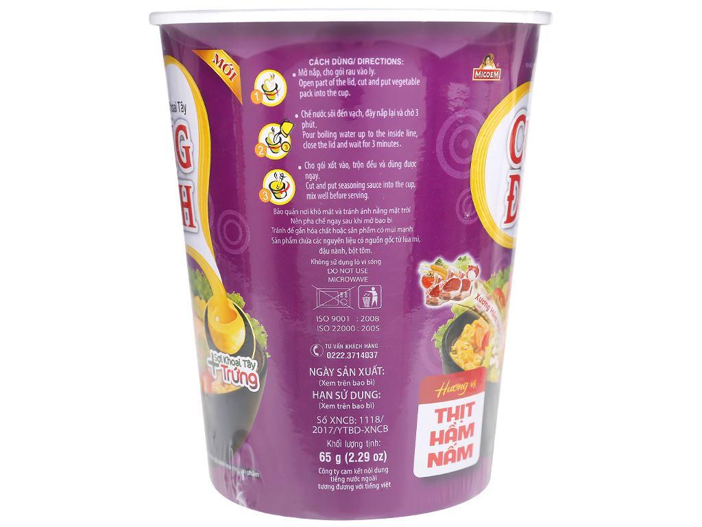 Mì khoai tây Cung Đình thịt hầm nấm ly 65g 6
