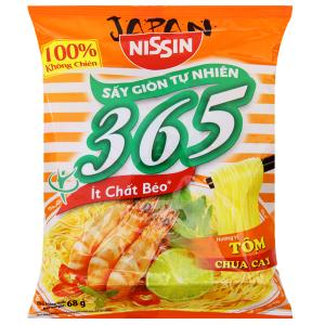 Mì không chiên Nissin 365 tôm chua cay gói 68g