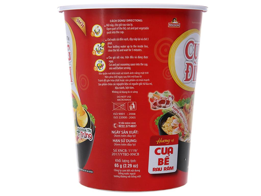 Mì khoai tây Cung Đình cua bể rau răm ly 65g 4