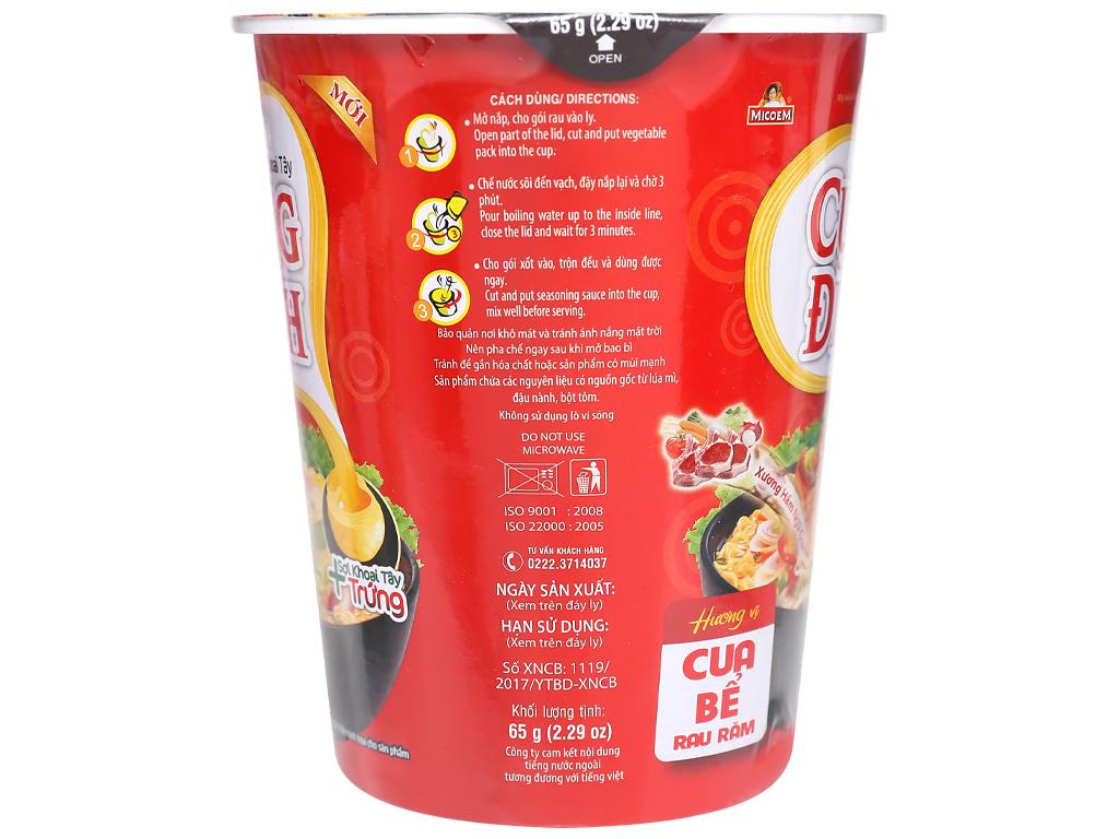 Mì khoai tây Cung Đình vị cua bể rau răm ly 65g 7