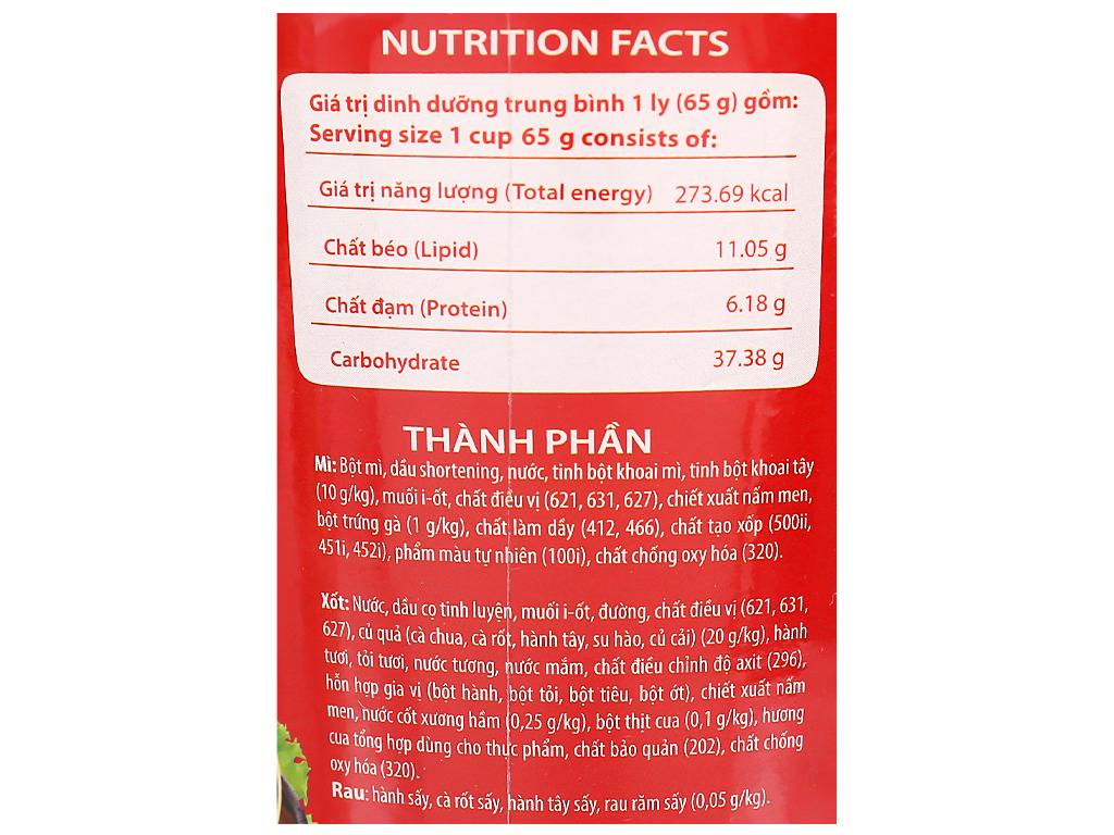 Mì khoai tây Cung Đình vị cua bể rau răm ly 65g 10