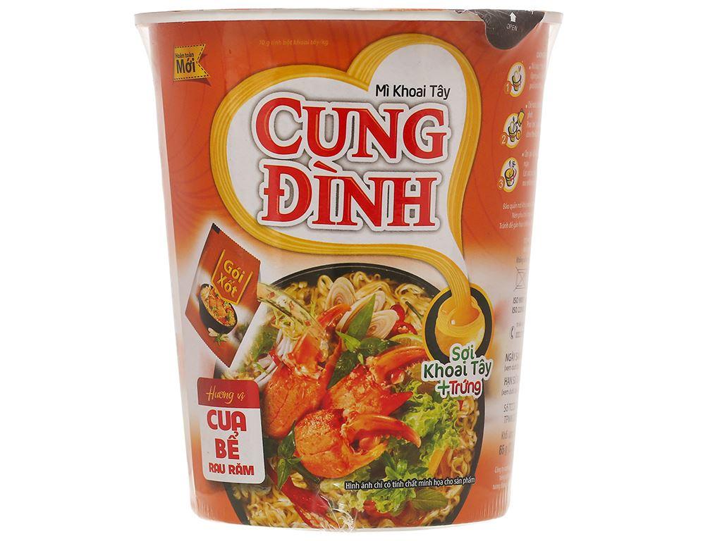 Mì khoai tây Cung Đình cua bể rau răm ly 65g 1