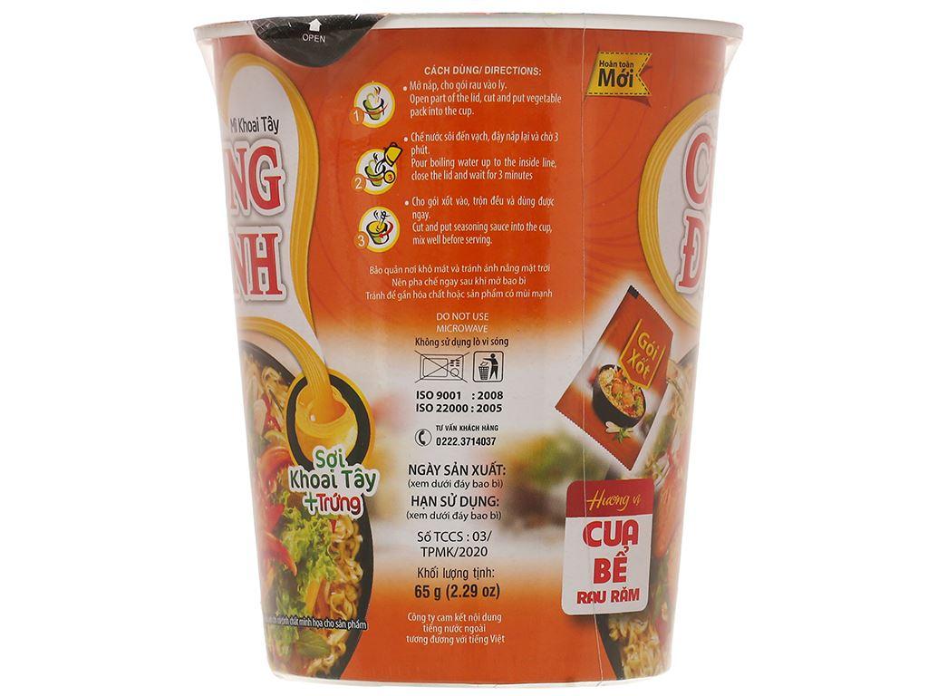 Mì khoai tây Cung Đình cua bể rau răm ly 65g 2