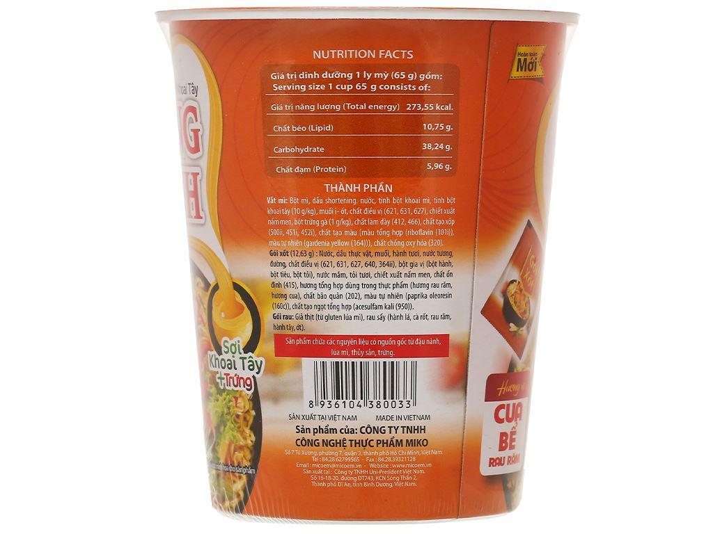 Mì khoai tây Cung Đình cua bể rau răm ly 65g 3