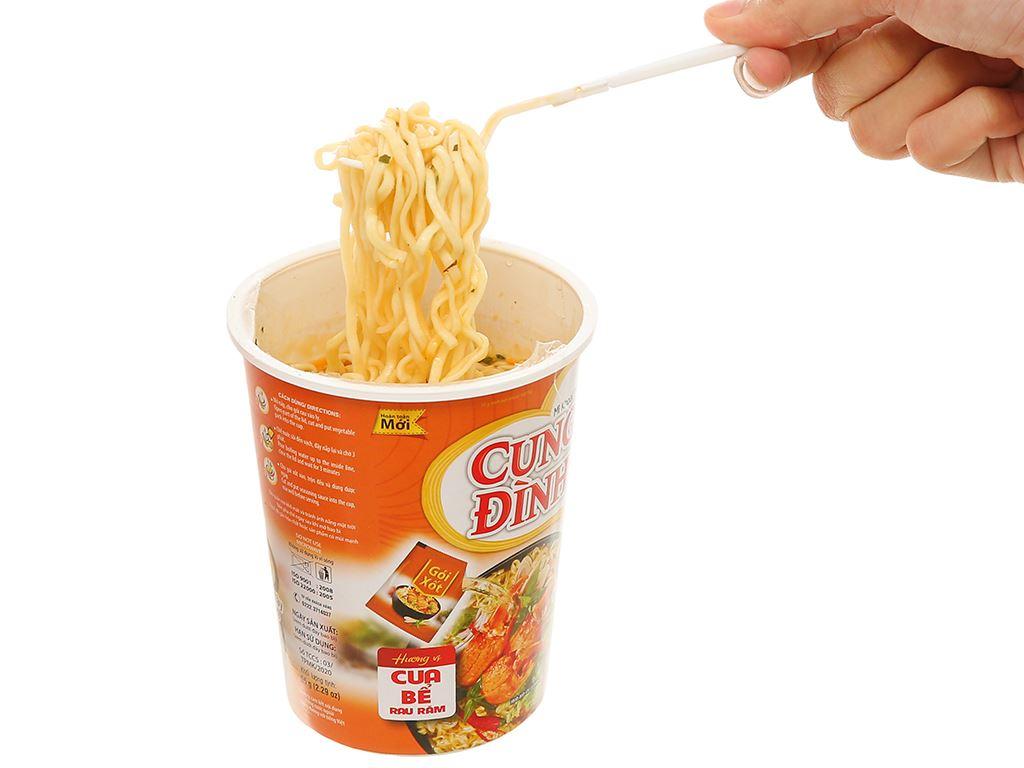 Mì khoai tây Cung Đình cua bể rau răm ly 65g 6