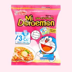 Mì Doraemon tôm gà tỏi phi gói 63g