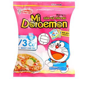 Mì Doraemon hương vị tôm gà tỏi phi gói 63g