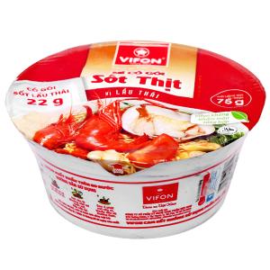 Mì Phú Gia vị lẩu Thái tô 75g (có gói sốt lẩu Thái)