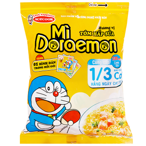Mì Doraemon Tôm hấp sữa gói 63g
