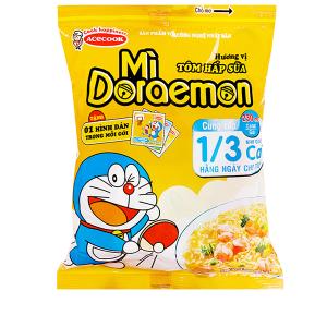 Mì Doraemon hương vị tôm hấp sữa gói 63g