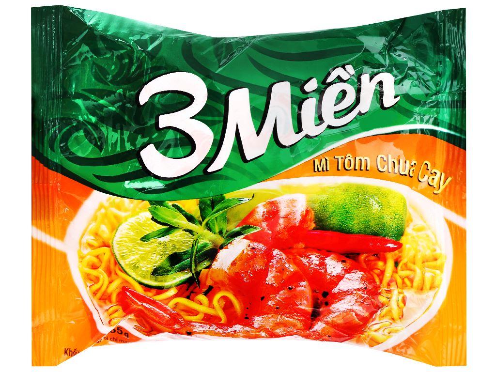 Thùng 30 gói mì 3 Miền tôm chua cay 65g 6