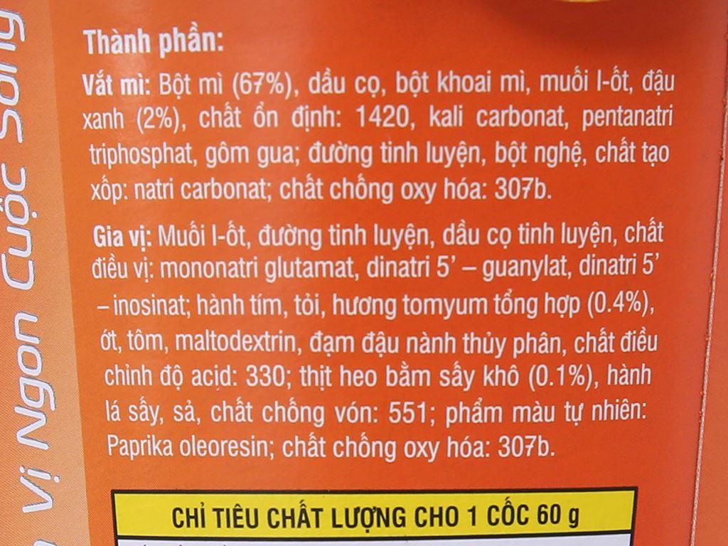Mì Vifon Ngon Ngon tomyum thịt bằm ly 60g 5
